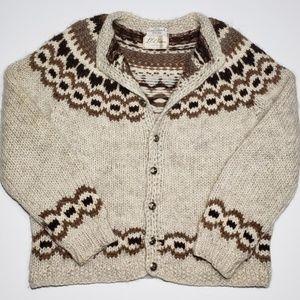 Vintage 70's LL Bean Chunky Wool Cardigan Iceland
